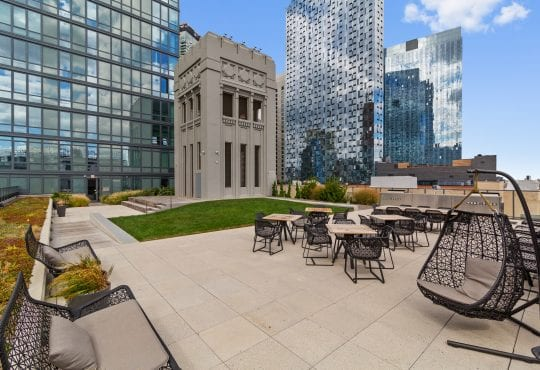 Amenities gallery - 6 of 7 - roof deck at Eagle Lofts with open space and seating