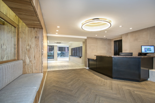 Amenities gallery - 1 of 3 - Large lobby at 110 Horatio St