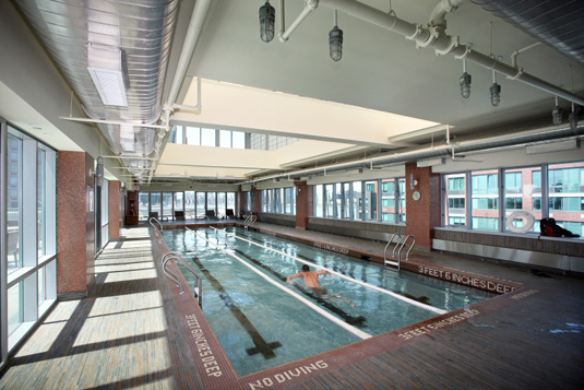Amenities gallery - 3 of 6 - indoor pool at 4705 Center Boulevard