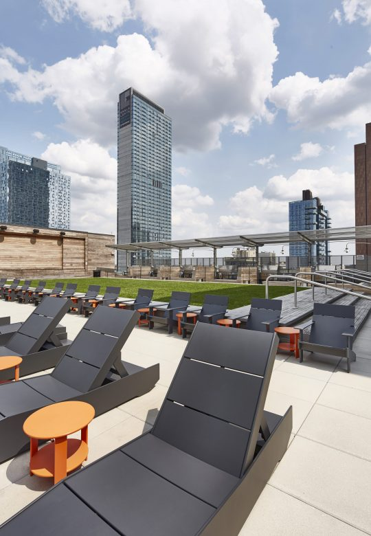 Amenities gallery - 1 of 9 - rooftop at The Hayden featuring lounge chairs
