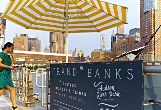 Neighborhood gallery - 8 of 9 - Grand Banks sign with yellow umbrella