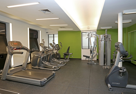 Amenities gallery - 1 of 3 - gym at Midwest Court featuring treadmills